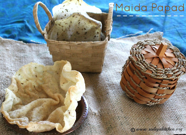 images of Maida Papad Recipe / Maida Ke Papad Recipe / All Purpose Flour Papad Recipe