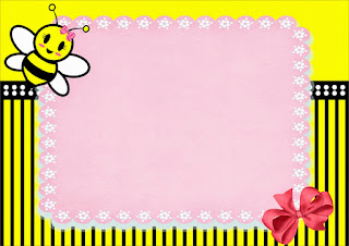 Baby Bee Free Printable Invitations, Labels or Cards.