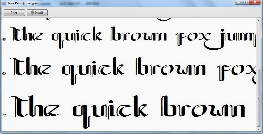 Unduh dan Install Font Aksara Jawa (Hanacaraka) Normal, JG ...