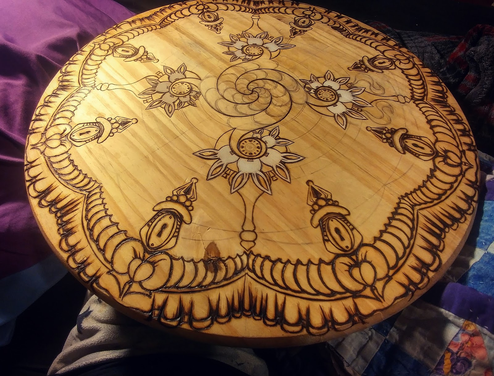 Teq Tantrum Pyrography Art By Penny B You Re Late For