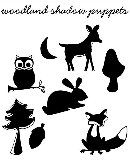 free shadow puppet templates my owl barn diy woodland creatures and scenery shadow