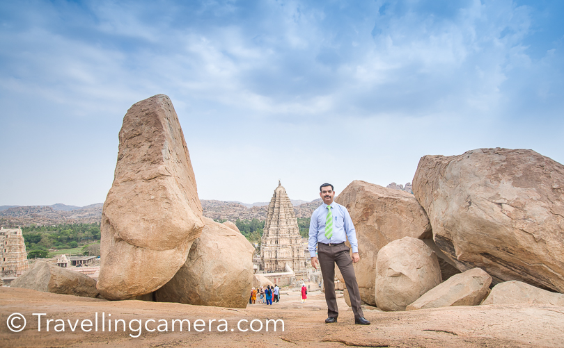As we started climbing up one of the neighbouring hills, we got to see huge landscapes of Hampi. There were huge areas in ruins. Most of these places looked grand and beautiful. At the same moment I realised how big this place is and how can we imagine to explore it well in a day or 2.