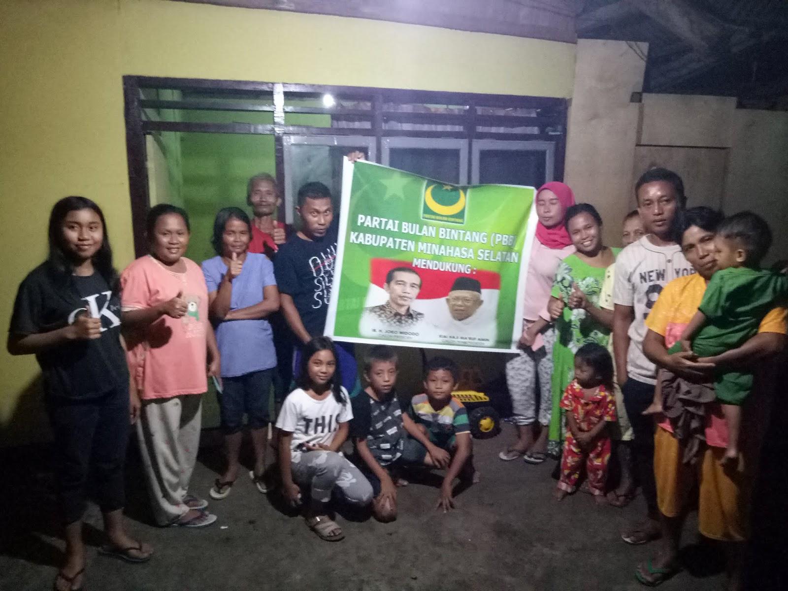 Partai Bulan Bintang Minsel Mendukung Pasangan Jokowi dan Ma'ruf Amin