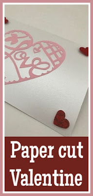 Paper cut Valentine's Day heart tutorial