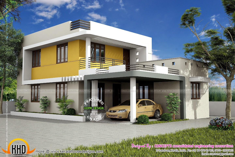 Proposed House At Nalanchira, Trivandrum  Kerala Home