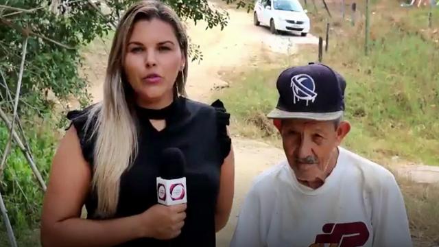 Curso d'água na localidade de Esperança, em São Fidélis, hoje está seco