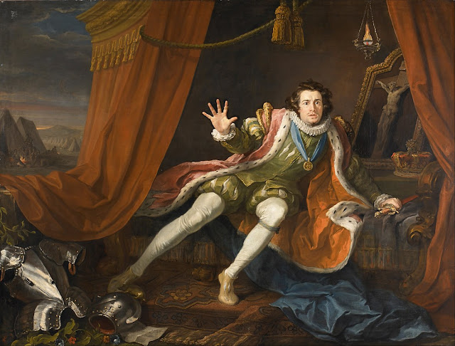 William Hogarth - David Garrick as Richard III (1745)