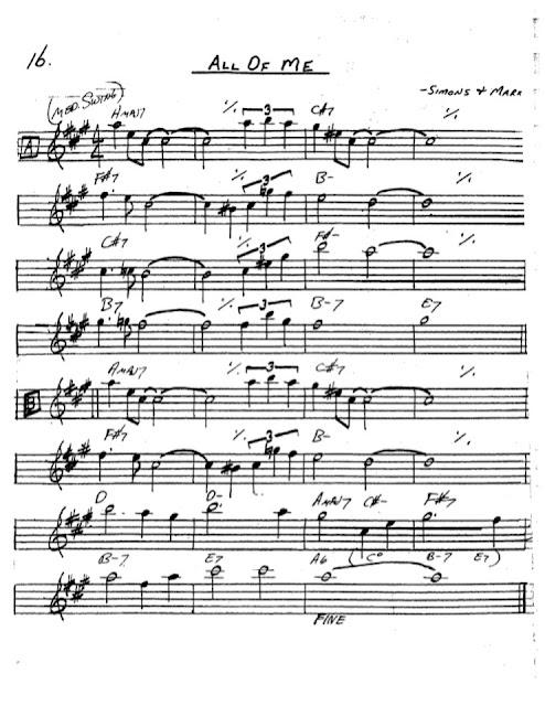 Partitura Saxofón Simons Mark
