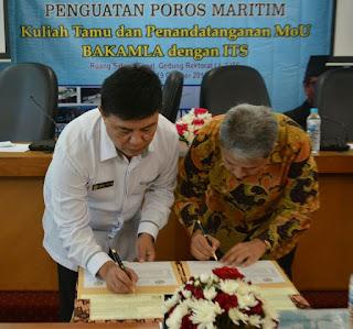 Penguatan Poros Maritim, Bakamla RI - ITS Teken MoU