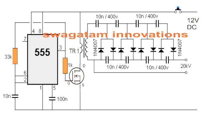 Stun Gun Circuit on Electric Motor Wiring Diagram