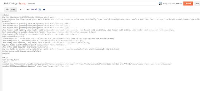 Dán đoạn code vào html
