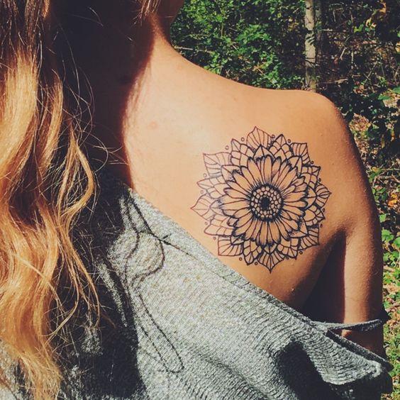 18 Stunning Sunflower Tattoo For Women - AWESOME TAT