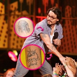 f258d626275a6 gucci mane tattoo wesi: The Tattoos of Johnny Depp Explained - Body Art