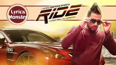 RIDE SONG LYRICS & VIDEO NAMBARDAR | PUNJABI SONG