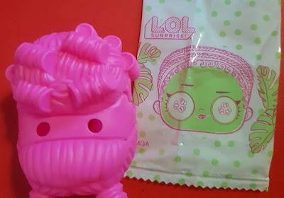 Розовый силиконовый парик с маской для Лол Сюрприз
