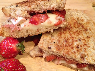 Strawberry and Brie Grilled Cheese Sandwich
