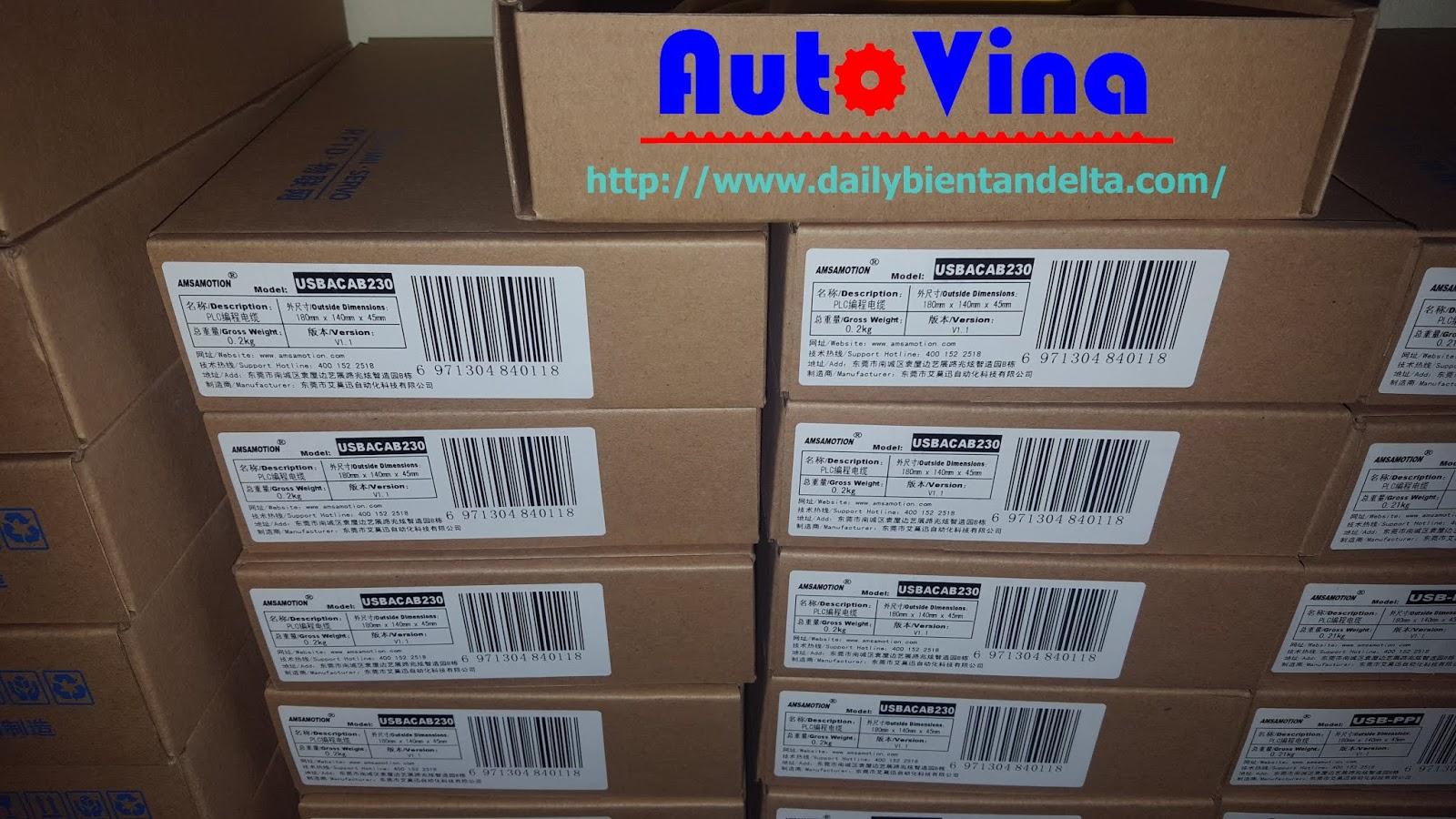 Cable PLC Delta USBACAB2A30 hàng mới, đầy đủ vỏ hôp, cable lập trình PLC giá rẻ