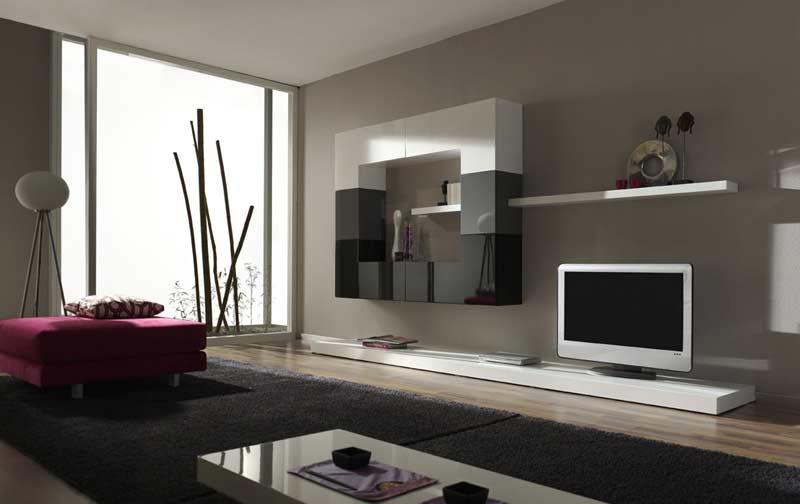 Decoraci n de salas modernas kitchen design luxury homes - Muebles grises paredes color ...