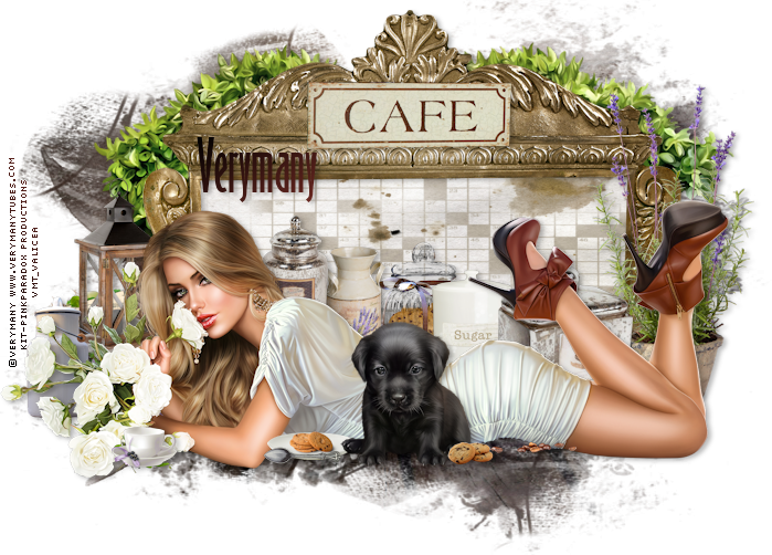 Coffee And Treats ~ Leather and lace tuts coffee treats
