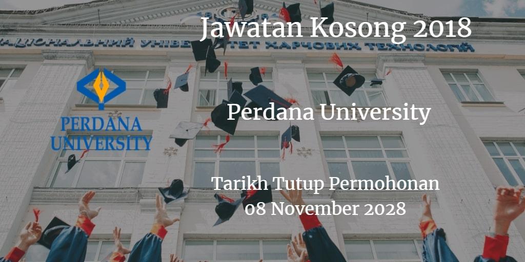 Jawatan Kosong Perdana University 08 November 2018