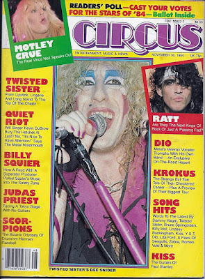 The cover of Circus Magazine November 30, 1984