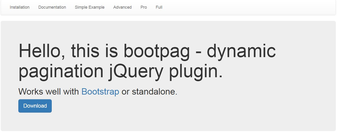 Jquery Pagination Bootstrap