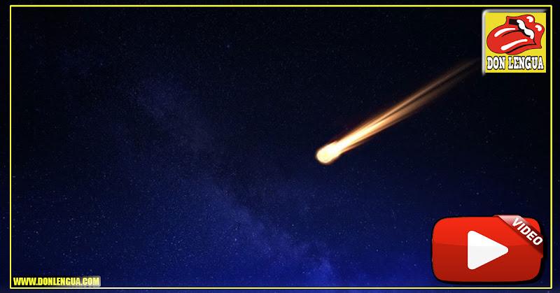 Meteorito cae en Valencia y es grabado desde varios ángulos