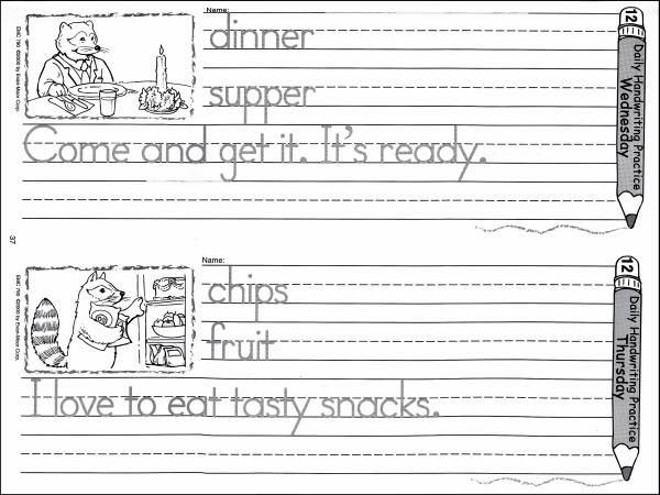 Free Worksheets » Handwriting Practice Sheets For Kids - Free ...