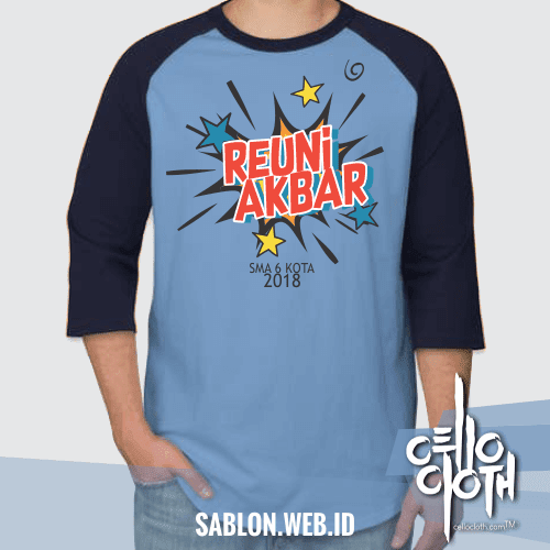 Desain Kaos Reuni Kabar Versi Kartun Sablon Kaos Online