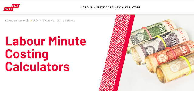 Labour minute costing calculators