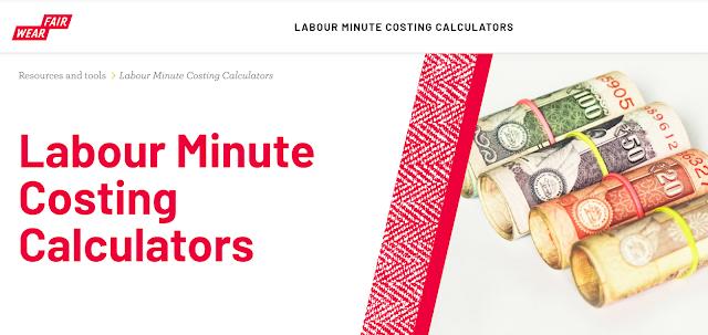 Labour minute costing calculators