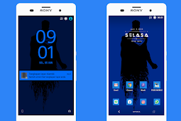 Blue Black Theme, Tema Sony Xperia (Root)