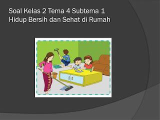 Soal Tematik Kelas 2 Tema 4 subtema 1 Hidup Bersih dan Sehat