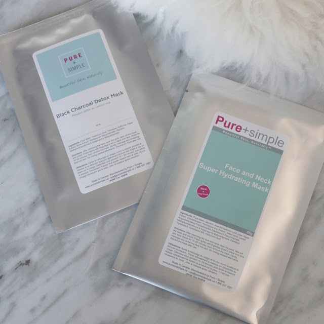 Pure and simple sheet mask