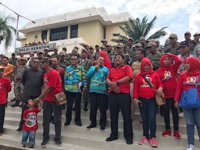 Pemprov Lampung Jelaskan Data BDT dan Beras Rastra kepada Para Pengunjuk Rasa SPRI