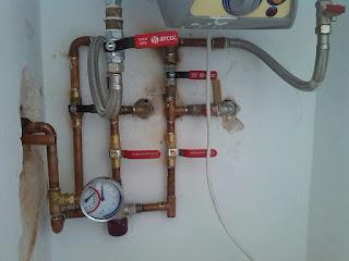 Agua a presión para limpieza de cañerías