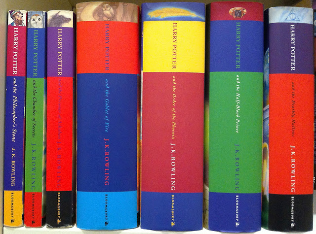 Harry Potter series original UK book covers