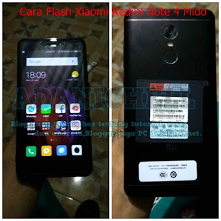 Cara Flash Xiaomi Redmi Note 4 Mido Bootloop 100% Ampuh