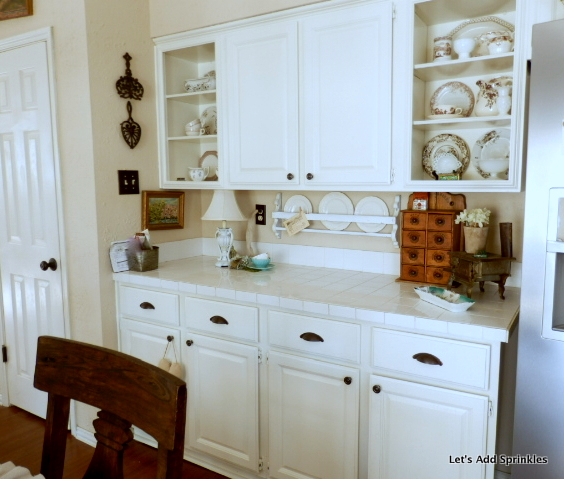 Open Kitchen Shelves Instead Of Cabinets: Let's Add Sprinkles: Open Shelving Instead Of Upper Cabinets