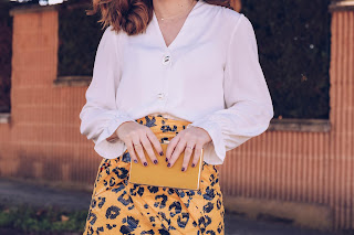Yellow plastic skirt