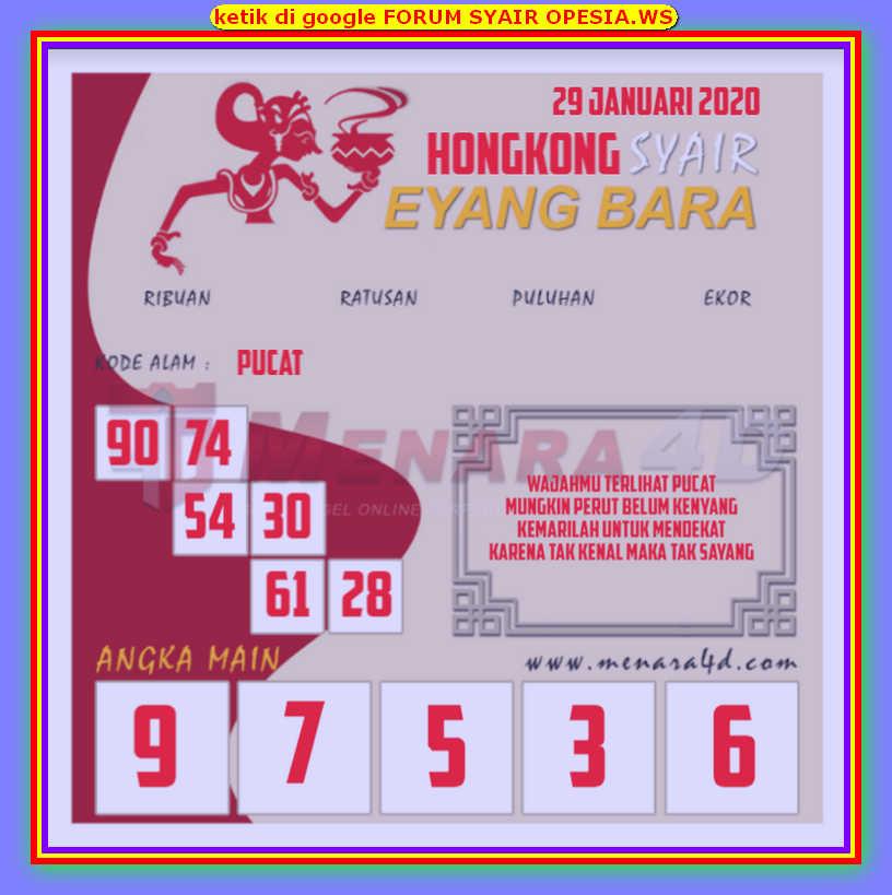 Kode syair Hongkong Rabu 29 Januari 2020 138