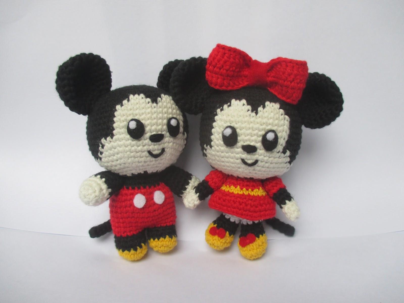 Amigurumi Boneka : Free crochet pattern amigurumi mickey dan minnie mouse craft lotus