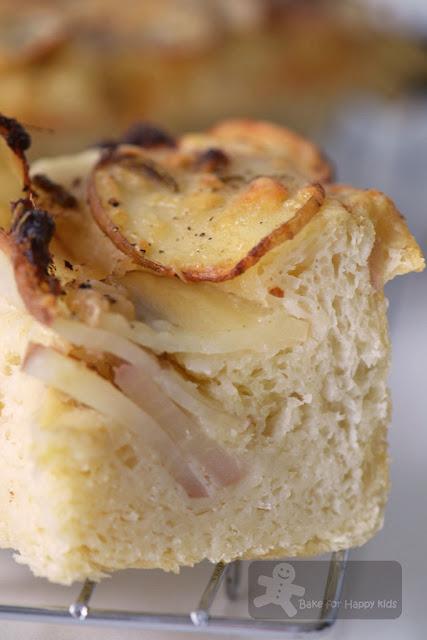 potato parmesan anchovy focaccia