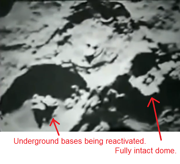 NASA's Lunar Reconnaissance orbiter captures real UFOs on the Moon.