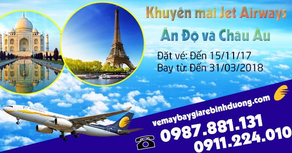 Mua vé khuyến mãi Jet Airways gia hạn đi Ấn Độ và Châu Âu