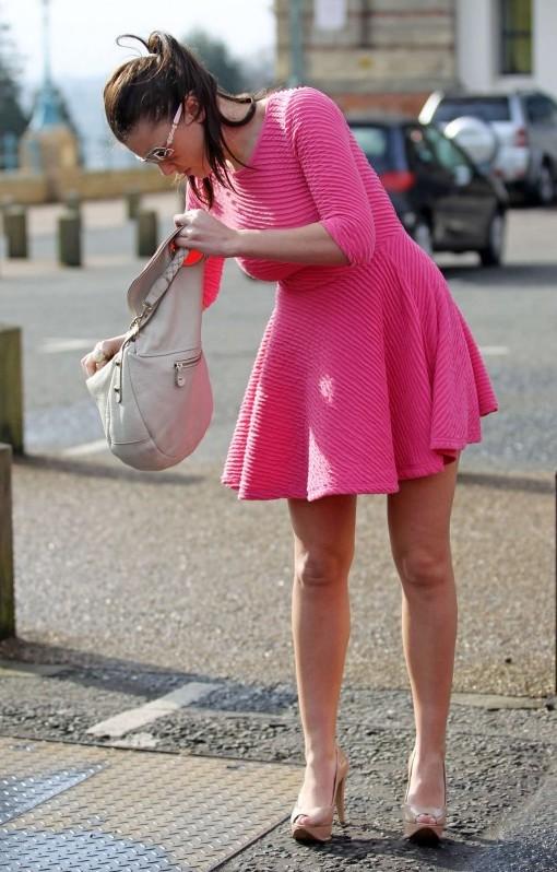 Got Celebs Imogen Thomas Upskirt In Pink Dress -2011