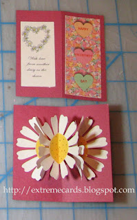daisy flower pop up card