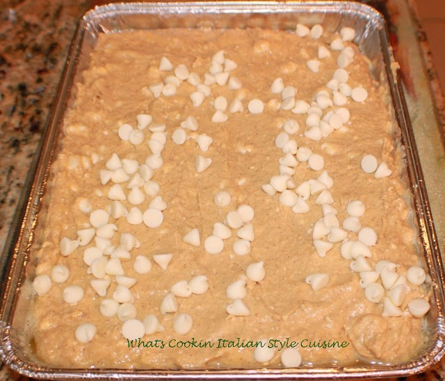 these are a white chocolate pumpkin spice bar with an easy to make bar for fall cookie with white chocolate and pumpkin all homemade batter from scratch recipe