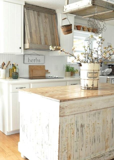 Inspiracje w moim mieszkaniu kuchnia w stylu cottage for Country antique kitchen ideas