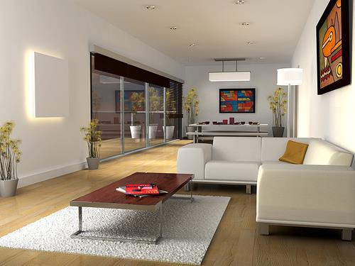 White Small Living Room Design